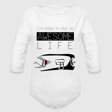 Awesome Life - Long Sleeve Baby Bodysuit