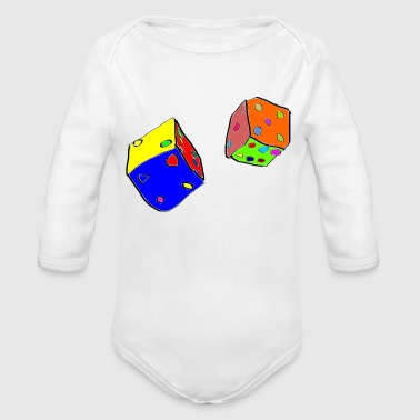 dices - Organic Long Sleeve Baby Bodysuit