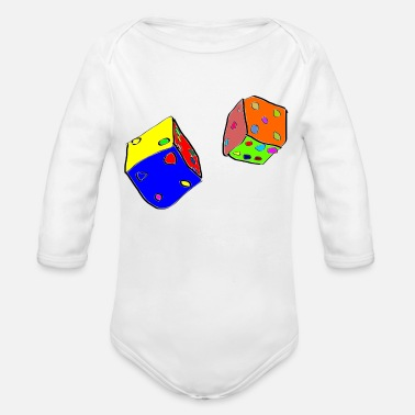 Dice dices - Organic Long-Sleeved Baby Bodysuit