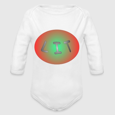 LIT - Organic Long Sleeve Baby Bodysuit