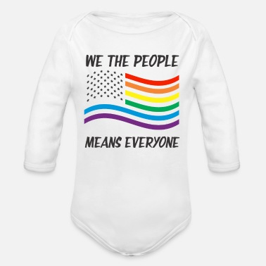 Miscellaneous LGBT people people rights politics gift USA - Organic Long-Sleeved Baby Bodysuit