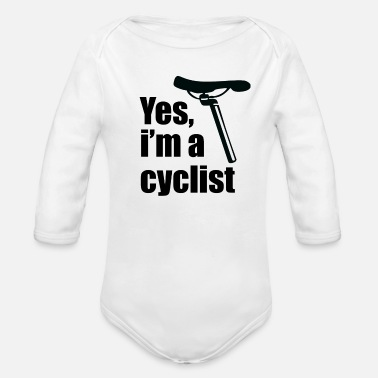 Person Yes, I'm a Cyclist - Organic Long-Sleeved Baby Bodysuit