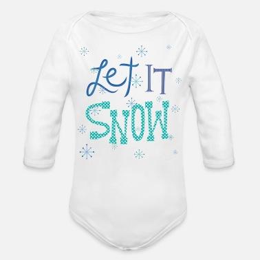 b10abb3c Let It Snow - Organic Long-Sleeved Baby Bodysuit