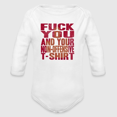 OFFENSIVE SHIRT - Long Sleeve Baby Bodysuit