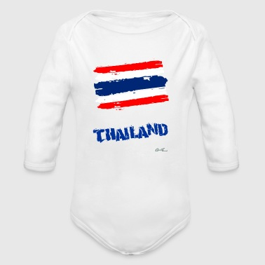 Thailand Flag - Long Sleeve Baby Bodysuit