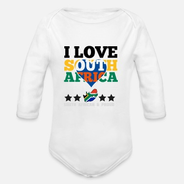 Africa I Love south africa - Organic Long Sleeve Baby Bodysuit
