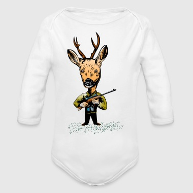 Deer Hunter Deer hunter - Organic Long Sleeve Baby Bodysuit