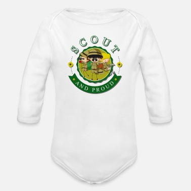 Scouts Scout and Proud Tee for Boys and Girls - Organic Long-Sleeved Baby Bodysuit