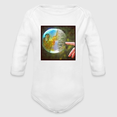 Blasen Bubble popping - Organic Long Sleeve Baby Bodysuit
