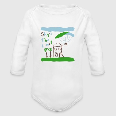 Sky`s the Limit Baby - Organic Long Sleeve Baby Bodysuit
