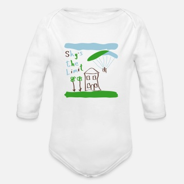 Paragliding Sky`s the Limit Baby - Organic Long Sleeve Baby Bodysuit