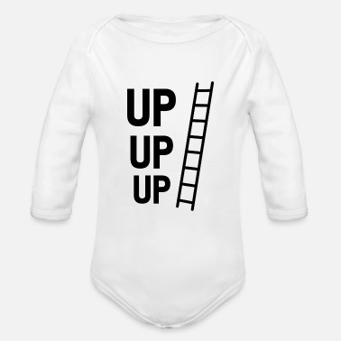 Up UP UP UP - Organic Long-Sleeved Baby Bodysuit