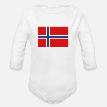 Norway Norway - Organic Long Sleeve Baby Bodysuit