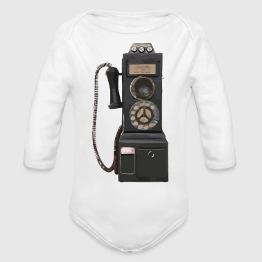 pay phone2 - Organic Long Sleeve Baby Bodysuit