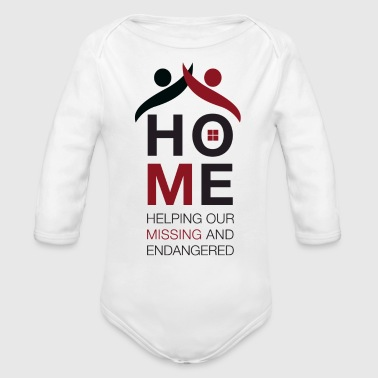 Black & Red Logo - Organic Long Sleeve Baby Bodysuit