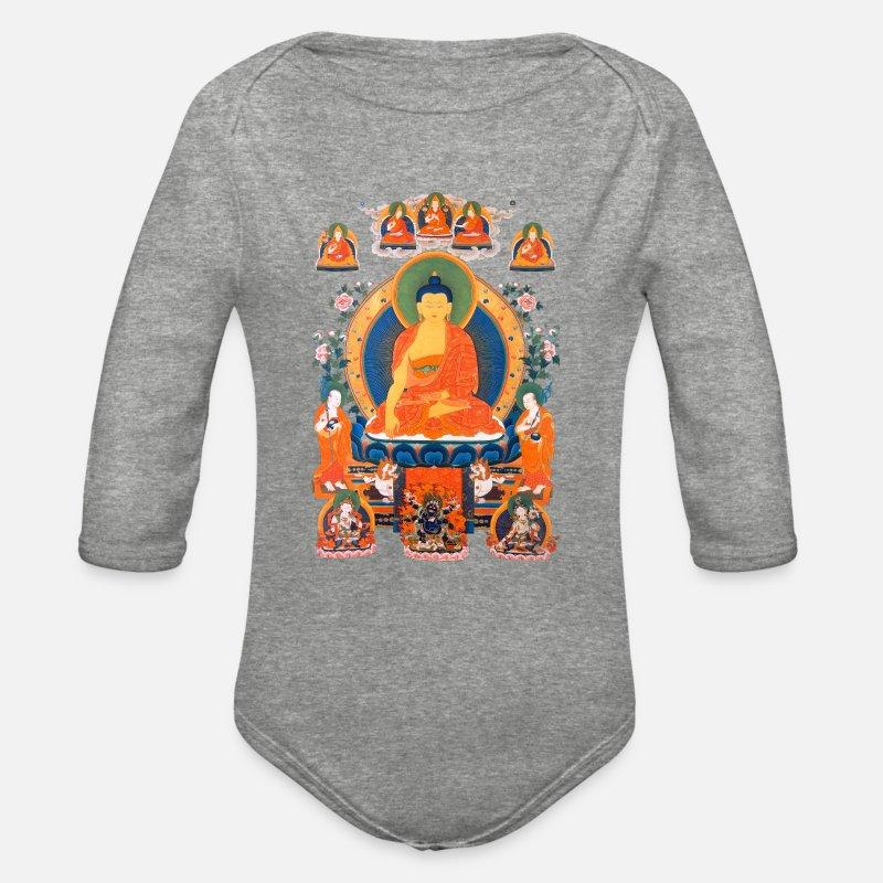 b3a03f69 Buddha Shakyamuni Organic Long-Sleeved Baby Bodysuit | Spreadshirt