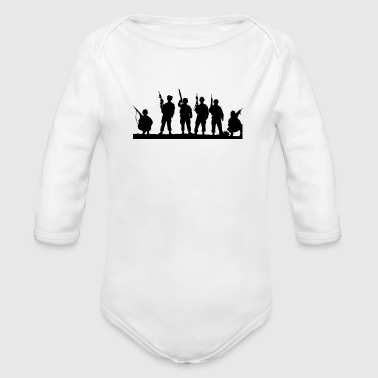 Military military - Organic Long Sleeve Baby Bodysuit