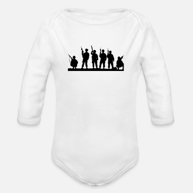 Military military - Organic Long-Sleeved Baby Bodysuit