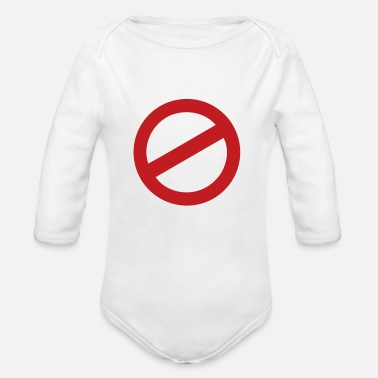 Prohibited prohibition sign - Organic Long-Sleeved Baby Bodysuit