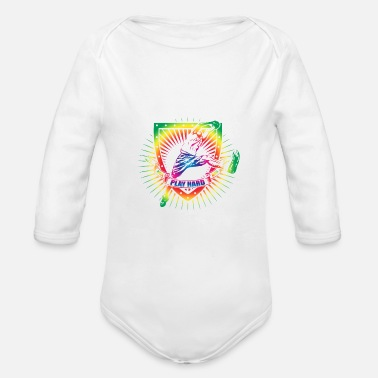 Sports BASKETBALL SPORTS Design - Organic Long Sleeve Baby Bodysuit