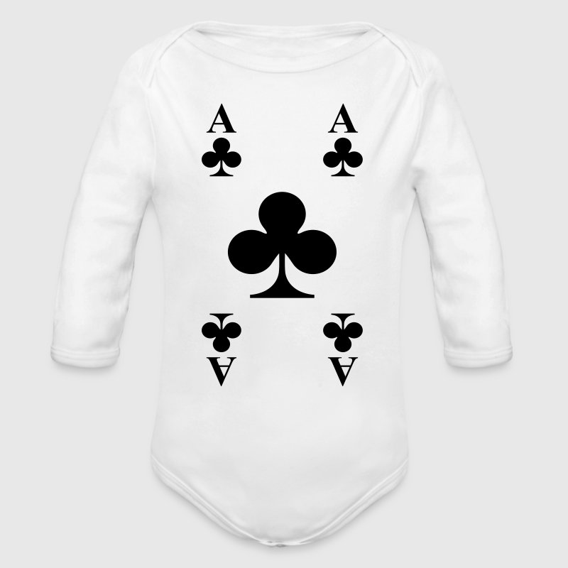 Ace of clubs - Organic Long Sleeve Baby Bodysuit