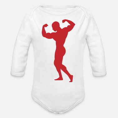 Adonis Adonis - A Strong Man - Organic Long-Sleeved Baby Bodysuit