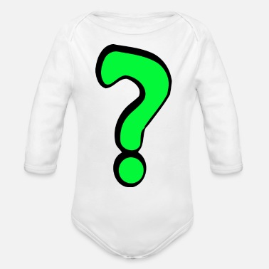 Question Question - Organic Long-Sleeved Baby Bodysuit