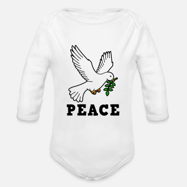 Dove Of Peace DOVE OF PEACE - Organic Long-Sleeved Baby Bodysuit