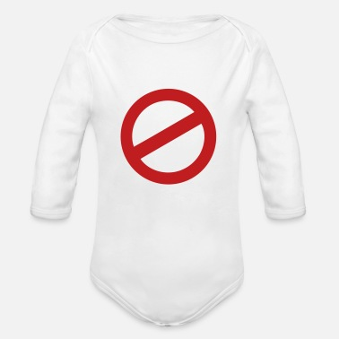 Prohibition prohibition sign - Organic Long-Sleeved Baby Bodysuit