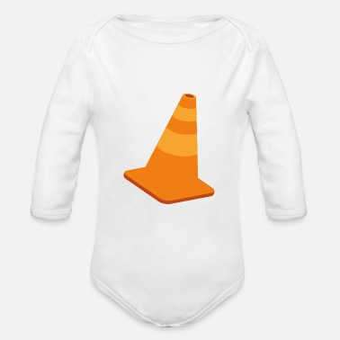 Traffic traffic cone - Organic Long-Sleeved Baby Bodysuit