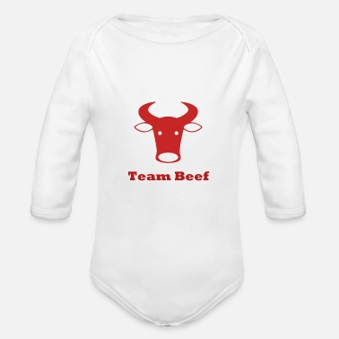 Beef Team Beef - Organic Long Sleeve Baby Bodysuit