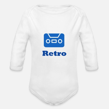 Retro Retro - Organic Long Sleeve Baby Bodysuit