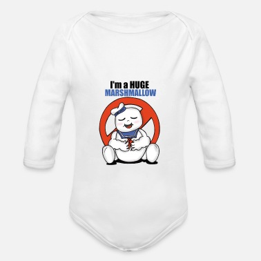 80s Ghostbusters Stay Puft - Organic Long-Sleeved Baby Bodysuit