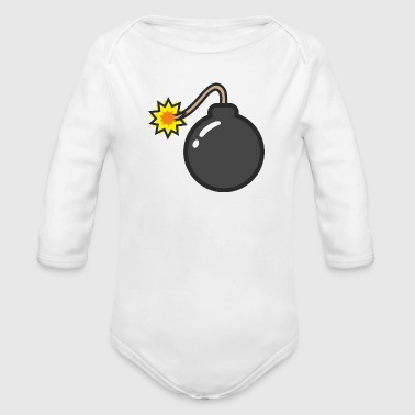 bomb - Organic Long Sleeve Baby Bodysuit