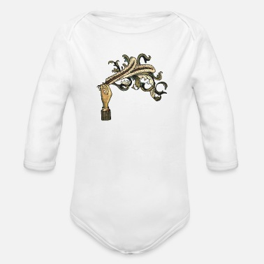 Fire Arcade Fire - Organic Long-Sleeved Baby Bodysuit