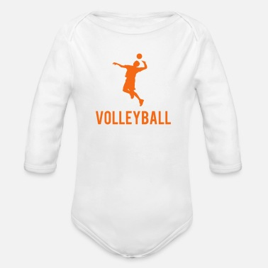 Volleyball Volleyball Sports - Organic Long Sleeve Baby Bodysuit