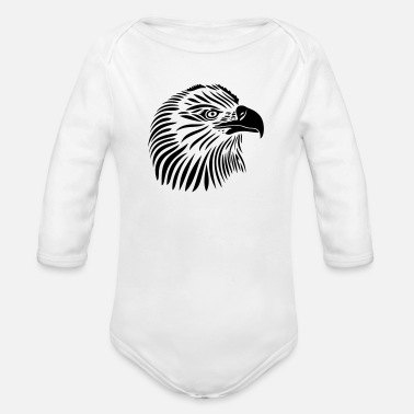 Eagle Head Eagle head, Tattoo style - Organic Long Sleeve Baby Bodysuit