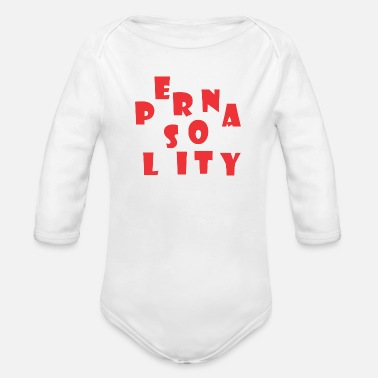 Person Personality - Organic Long-Sleeved Baby Bodysuit