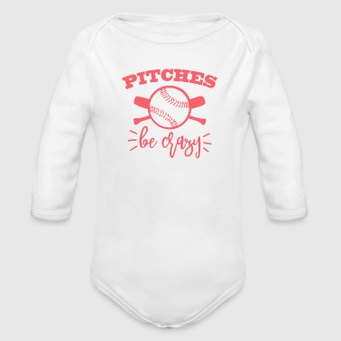 Pitches be crazy - Organic Long Sleeve Baby Bodysuit