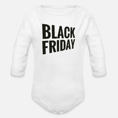 Black Friday - Organic Long-Sleeved Baby Bodysuit