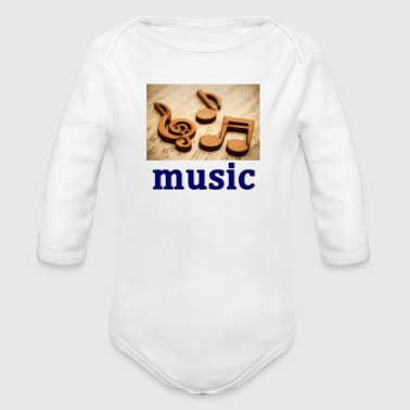 music heals - Organic Long Sleeve Baby Bodysuit