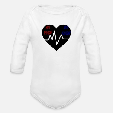 No Pain No Gain No Pain No Gain - Organic Long Sleeve Baby Bodysuit