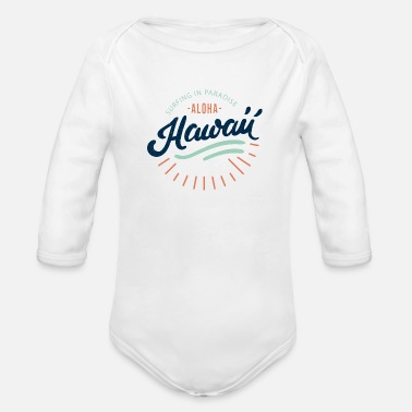 Surfing Hawaii - Organic Long-Sleeved Baby Bodysuit