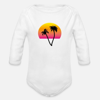 palms and sun II - Organic Long-Sleeved Baby Bodysuit