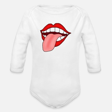 Tongue Tongue - Organic Long-Sleeved Baby Bodysuit