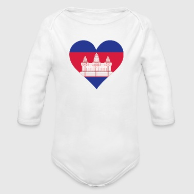 A Heart For Cambodia - Organic Long Sleeve Baby Bodysuit