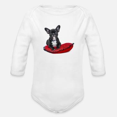French Bulldog Puppy Organic Long Sleeve Baby Bodysuit