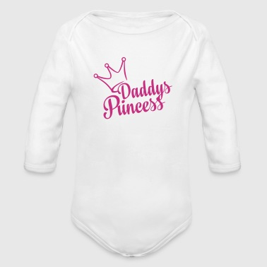Daddys Princess (dh) - Organic Long Sleeve Baby Bodysuit