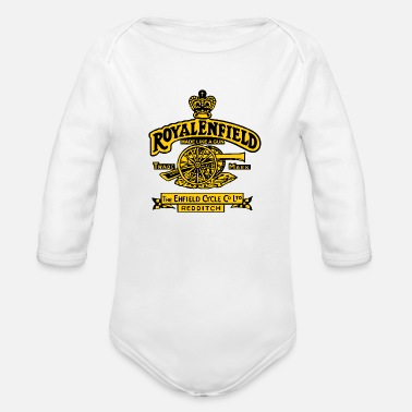 classic motorcycle - Organic Long-Sleeved Baby Bodysuit