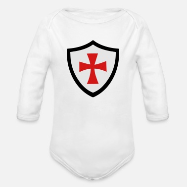 Shield shield - Organic Long-Sleeved Baby Bodysuit